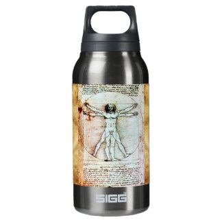 THE VITRUVIAN MAN Antique Parchment Insulated Water Bottle