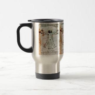 THE VITRUVIAN MAN Antique Parchment Coffee Mugs