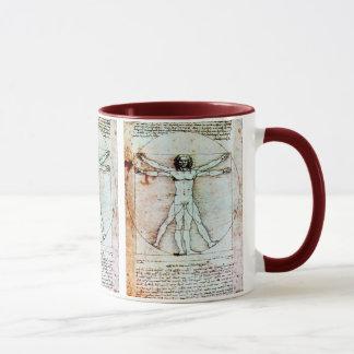 THE VITRUVIAN MAN  Antique  Parchment Mug