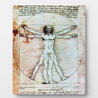 THE VITRUVIAN MAN Antique Parchment Plaque