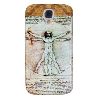 THE VITRUVIAN MAN Antique Parchment Samsung Galaxy S4 Covers