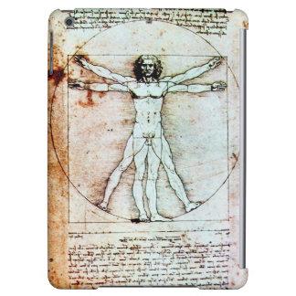 THE VITRUVIAN MAN , Brown Parchment iPad Air Cover