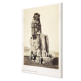 The 'Vocal Memnon', Colossal Statue of Amenhotep I Gallery Wrap Canvas