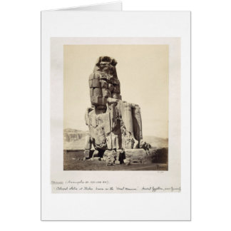 The 'Vocal Memnon', Colossal Statue of Amenhotep I Card