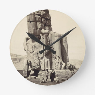 The 'Vocal Memnon', Colossal Statue of Amenhotep I Wallclock
