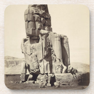 The 'Vocal Memnon', Colossal Statue of Amenhotep I Drink Coasters