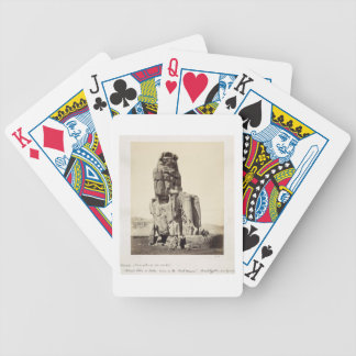 The 'Vocal Memnon', Colossal Statue of Amenhotep I Bicycle Card Deck