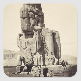 The 'Vocal Memnon', Colossal Statue of Amenhotep I Square Sticker