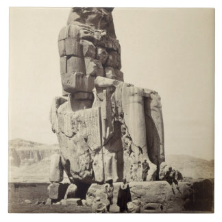 The 'Vocal Memnon', Colossal Statue of Amenhotep I Tile