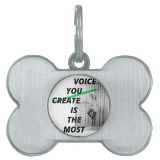 The voice in your head is the most alive pet tag