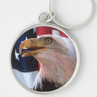 The Voice of American Freedom Silver-Colored Round Keychain