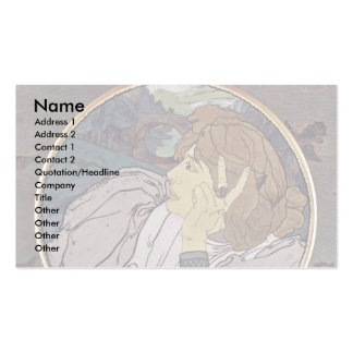 The Voice Of Evil, Or Melancholy Tondo Double-Sided Standard Business Cards (Pack Of 100)