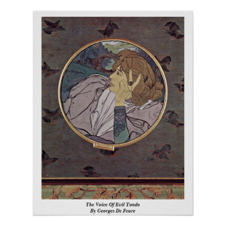 The Voice Of Evil Tondo By Georges De Feure Poster