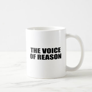 THE VOICE OF REASON CLASSIC WHITE COFFEE MUG