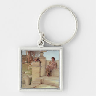 The Voice of Spring, 1908 (oil on panel) Silver-Colored Square Keychain