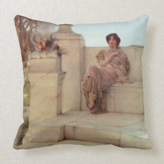 The Voice of Spring, 1908 (oil on panel) Throw Pillows