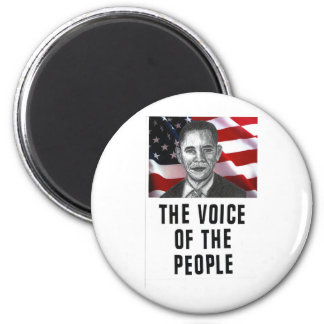 The Voice Of The People 2 Inch Round Magnet