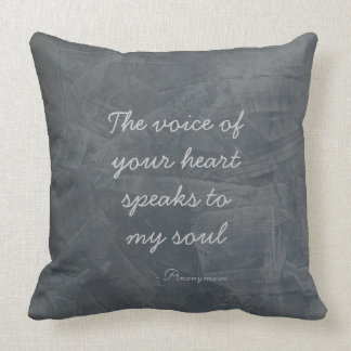 The Voice Of Your Heart Poster Throw Pillow