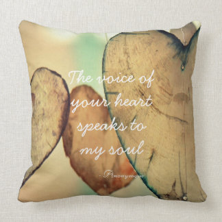 The Voice Of Your Heart Quote Pillow