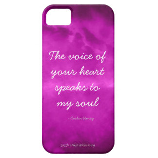 The Voice Of Your Heart Speaks To My Soul - Purple iPhone SE/5/5s Case