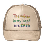 The Voices in My Head are SATB Mesh Hats