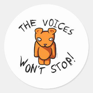 The Voices Won't Stop - Ushio Crazy Teddy Insane Classic Round Sticker