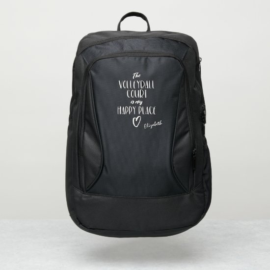 The volleyball court is my happy place port authority® backpack