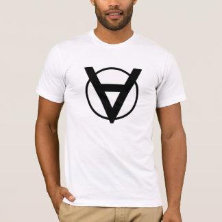 The Voluntaryists Hero Symbol Plus Political Quiz T-Shirt