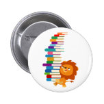 The Voracious Reader (Cute Cartoon Lion) Button