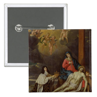 The Vow of Louis XIII  King of France and 2 Inch Square Button