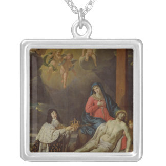 The Vow of Louis XIII  King of France and Silver Plated Necklace