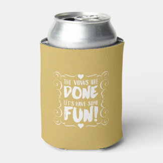 The Vows are Done Gold Wedding Favors Can Cooler