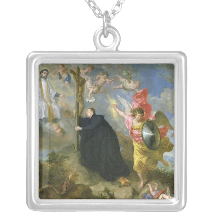 The Vows of Saint Aloysius of Gonzaga Silver Plated Necklace