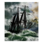 The Voyage - Columbus Sailing The Ocean Posters