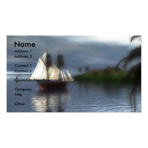 The Voyage Double-Sided Standard Business Cards (Pack Of 100)