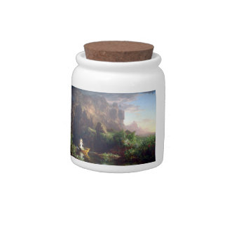 The Voyage of Life - Childhood by Thomas Cole Candy Jar