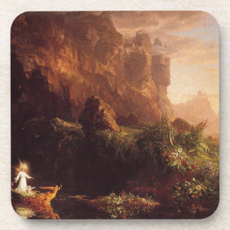 The Voyage of Life: Childhood by Thomas Cole Drink Coaster
