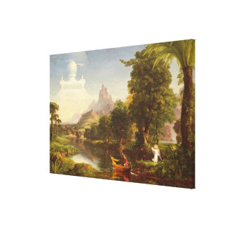 The Voyage of Life: Youth, 1842 (oil on canvas) Canvas Print