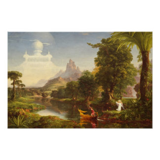 The Voyage of Life: Youth, 1842 (oil on canvas) Poster