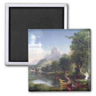 The Voyage of Life - Youth by Thomas Cole 2 Inch Square Magnet