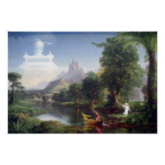 The Voyage of Life - Youth by Thomas Cole Poster