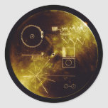 The Voyager Golden Record Classic Round Sticker
