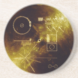 The Voyager Golden Record Drink Coaster