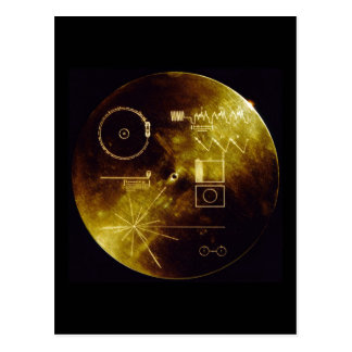 The Voyager Golden Record Postcard
