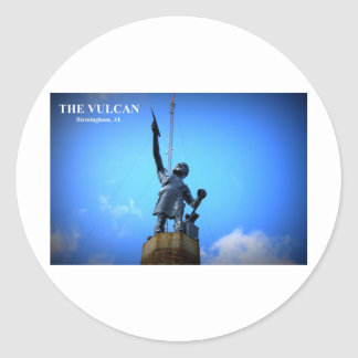THE VULCAN STATUE CLASSIC ROUND STICKER