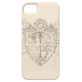The W: Crest Pencil Art iPhone5 Case