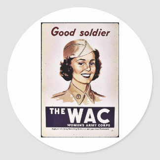 The Wac Womens Army Corps Classic Round Sticker
