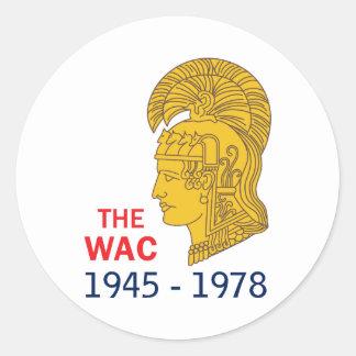 The WAC Years Classic Round Sticker