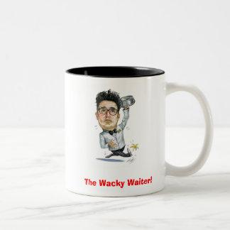 The Wacky Waiter!... Caricature Joe Mug! Two-Tone Coffee Mug
