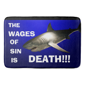 The Wages of Sin - Large Bath Mat